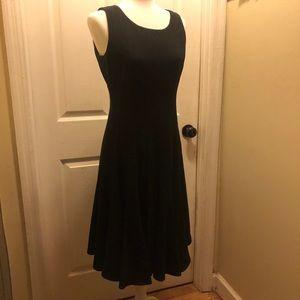 Calvin Klein Midi Black Dress Size 6